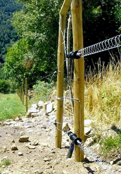 Instalación de una cerca eléctrica